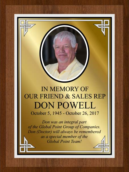 Memorial Plaque for Don Powell